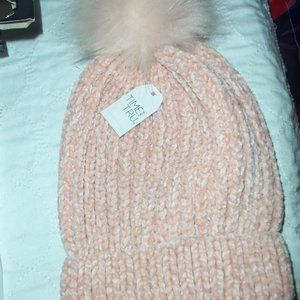 Women's Rose Gold Pink Hat NWT